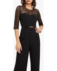 Phase Eight - Black Jasmine Lace Top Jumpsuit - Lyst