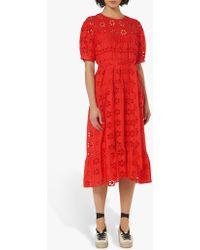 7c98fb7c1d L.K.Bennett Noah Beaded Floral Midi Dress in Pink - Save 51% - Lyst
