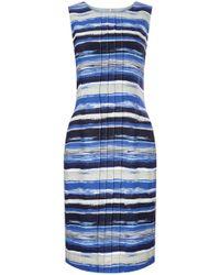 Precis Petite - Waterstripe Linen Shift Dress - Lyst