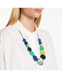 John Lewis - One Button Circular Cord Necklace - Lyst