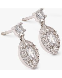Ivory & Co. - Parisian Oval Cubic Zirconia Earrings - Lyst