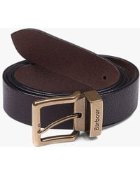 Barbour - Blakely Leather Belt - Lyst