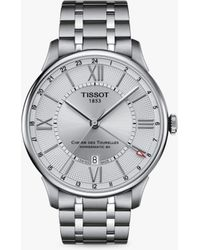Tissot - T0994291103800 Men's Chemin Des Tourelles Powermatic 80 Date Bracelet Strap Watch - Lyst