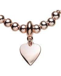 John Lewis - Ball Bead Heart Charm Stretch Bracelet - Lyst