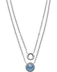 Skagen   Sea Glass Double Chain Pendant Necklace   Lyst