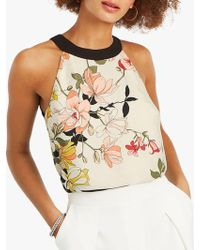Oasis - Scarf Shell Floral Top - Lyst