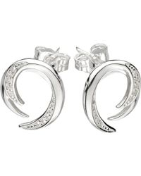 Kit Heath - Twist Cubic Zirconia Stud Earrings - Lyst