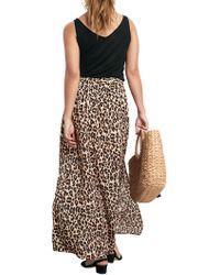 John Lewis - Hush Leopard Split Maxi Skirt - Lyst