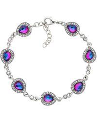 Monet - Teardrop Glass Crystal Bracelet - Lyst