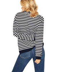 Oasis - Weekend Striped Sweatshirt - Lyst