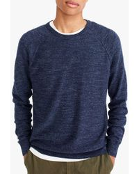 J.Crew - Cotton Crew Neck Jumper - Lyst