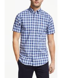 e66cddcbaca GANT Telltail Madras Check Shirt in Blue for Men - Lyst