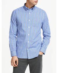 GANT - Pinpoint Oxford Gingham Shirt - Lyst