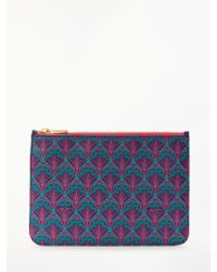 Liberty - Iphis Print Canvas Pouch Purse - Lyst