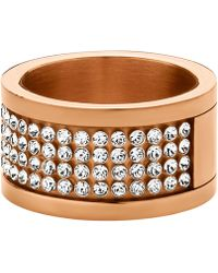 Dyrberg/Kern - Emily Swarovski Crystal Multi Row Ring - Lyst