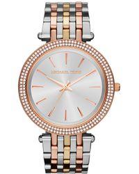 Michael Kors - Mk3203 Women's Darci Tri Tone Bracelet Strap Watch - Lyst