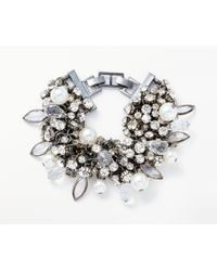 John Lewis - Crystal And Faux Pearl Statement Bracelet - Lyst