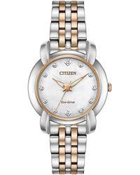 Citizen - Em0716-58a Women's Jolie Eco-drive Diamond Bracelet Strap Watch - Lyst