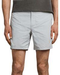AllSaints - Warden Swim Shorts - Lyst