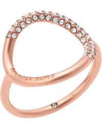 Michael Kors - Open Circle Crystal Pavé Ring - Lyst
