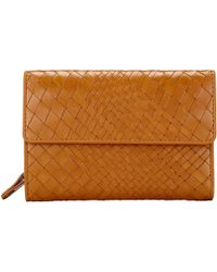John Lewis Rosa Weave Leather Coin Purse