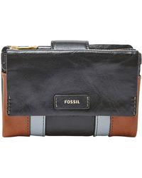 Fossil - Ellis Leather Multi-function Purse - Lyst
