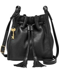 Fossil - Claire Leather Drawstring Across Body Bag - Lyst