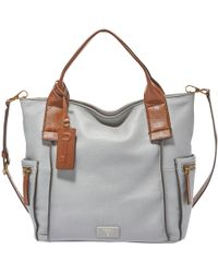 Fossil - Emerson Leather Satchel - Lyst