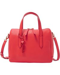 Fossil - Sydney Leather Satchel - Lyst