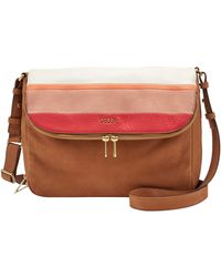 Fossil - Preston Leather Flapover Across Body Bag - Lyst
