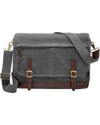 Fossil - Defender Canvas Messenger Bag - Lyst