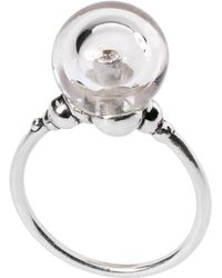 Trollbeads - Sterling Silver Crystal Bubble Ring - Lyst