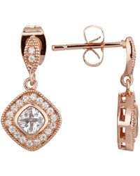 Ivory & Co. - Regent Square Cubic Zirconia Pave Drop Earrings - Lyst