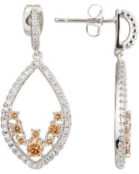 Ivory & Co. - Rose Cubic Zirconia Teardrop Drop Earrings - Lyst