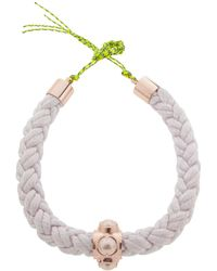 Cabinet - Cabochon Pearl Silk Rope Collar Necklace - Lyst
