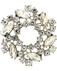 Monet - Crystal Wreath Brooch - Lyst