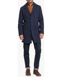 Joules - Tweed Overcoat - Lyst