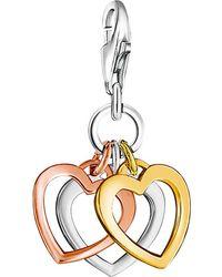 Thomas Sabo - Charm Club Triple Heart Charm - Lyst