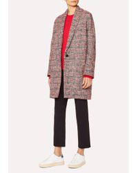 Paul Smith - Ps Tweed Coat - Lyst