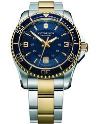 Victorinox - Men's Maverick Date Bracelet Strap Watch - Lyst