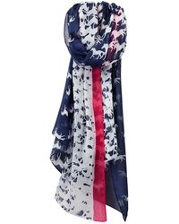 Joules - Wensley Galloping Horse Print Scarf - Lyst