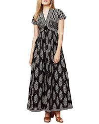 East - Anokhi Bamzai Print Maxi Dress - Lyst