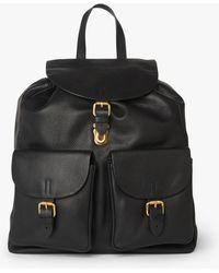 L.K.Bennett - James Black Leather Backpack - Lyst