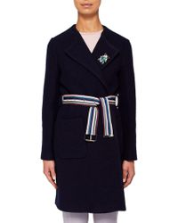 d391aa2e4 Ted Baker - Colour By Numbers Nattaa Wool Wrap Coat - Lyst