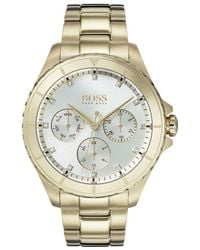 BOSS - 1502445 Women's Premiere Chronograph Crystal Bracelet Strap Watch - Lyst
