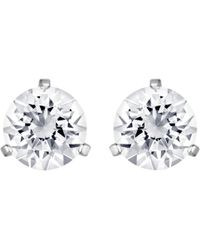 Swarovski - Solitaire Round Crystal Stud Earrings - Lyst