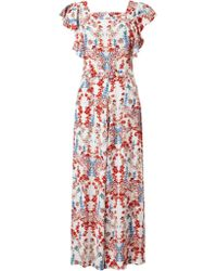 Somerset by Alice Temperley - Printed Boatneck Jumpsuit - Lyst
