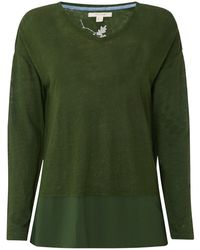 White Stuff - Nazelle Longsleeved Linen Jersey T-shirt - Lyst