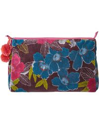 White Stuff | Iris Floral Velvet Wash Bag | Lyst