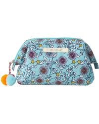 White Stuff - Mint Floral Makeup Bag - Lyst